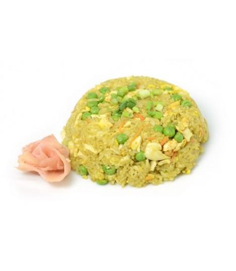 A8 Riz sauté au saumon, curry, fromage