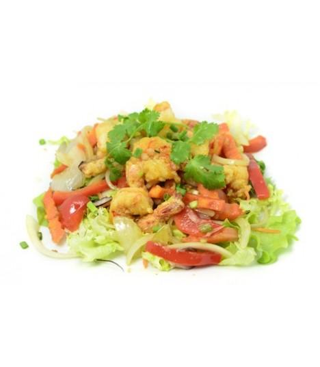 A9 Crevettes au sel et poivre Crevettes sautées à la +1 riz
